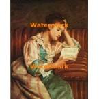 Young Woman Reading  - #XBMC184  -  PRINT
