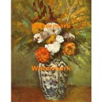 Dahlias In A Vase of Delft  - #XBMC47  -  PRINT