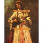 Gypsy Girl with Mandolin  - XBMC86  -  PRINT