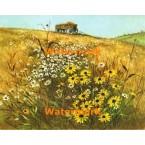 Hay Wagon  - #XBSC815  -  PRINT