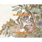Garden Kitten  - #XRA1382  -  PRINT