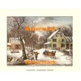 American Homestead Winter  -  #XKFL1089  -  PRINT