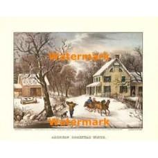 American Homestead Winter  -  #XKFL1089  -  PRINT
