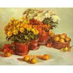 Chrysanthemums and Lemons  - #XBFL1139  -  PRINT