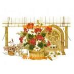 Flowers By Window  - #XBFL1228  -  PRINT