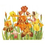 Fairy in Yellow Irises  - #XBJ1034  -  PRINT
