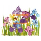 Fairy in Purple Irises  - #XBJ1037  -  PRINT