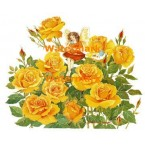 Fairy in Yellow Roses  - #XBJ1039  -  PRINT