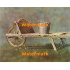 Antique Wheelbarrow  - #XBSC1290  -  PRINT