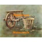 Antique Wheelbarrow  - #XBSC1293  -  PRINT