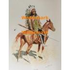 A Sioux Chief  - #XFR5 -  PRINT