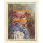 Girl with Bonnet  - #XKLT2850  -  PRINT