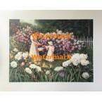 Gathering Flowers  - #XKVH3549  -  PRINT