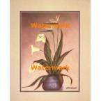 Bird of Paradise & Calla Lilies  - #XBFL2241  -  PRINT