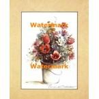 Bucket Of Flowers  - #XBFL2299  -  PRINT