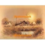 Barn & Windmill  - #XBSC2981  -  PRINT