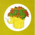 Decorative Elephant  - #XS2119  -  PRINT