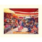 Crowded Market  - #XKFL3947  -  PRINT