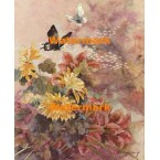 Oriental Chrysanthemum  - #XKL3325  -  PRINT