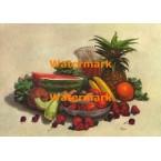 Pewter Fruit Bowl  - #XKD4304  -  PRINT