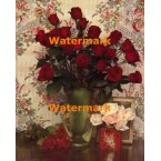 Vase With Roses  - #XKL4710  -  PRINT