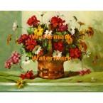 Geraniums & Daisies  - XBFL1142  -  PRINT