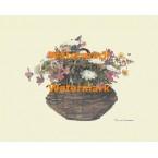 Basket of Flowers  - XBFL2078  -  PRINT