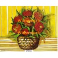 Flowers in Basket  - XBFL624  -  PRINT