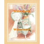 Wicker Chair With Lace  - #XKFL5810  -  PRINT