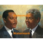 Martin Luther King And Nelson Mandela  -  #XKL5300  -  PRINT