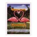 Flamingo Heart  - #XAR5038  -  PRINT
