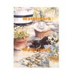 Felines & Blossoms  - #XAR5411  -  PRINT