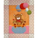 Balloon Teddy Bear  - #XD50212  -  PRINT