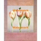 Polka Dot Tulips  - #XD50428  -  PRINT