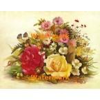 1.  Floral Harmony  - #XKL6104  -  PRINT