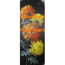 Ebony and Orange Floral  -  #XKKZ494  -  PRINT