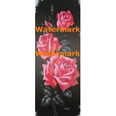 Ebony and Pink Floral  -  #XKKZ495  -  PRINT