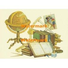 Globe & Books  - XD9654  -  PRINT