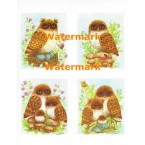 Owls  - XBAN332  -  PRINT 4 Up Designs