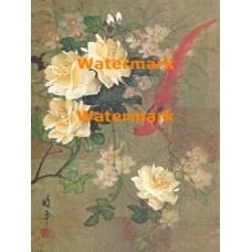 Delicate Flowers & Bird  - XBCH55  -  PRINT