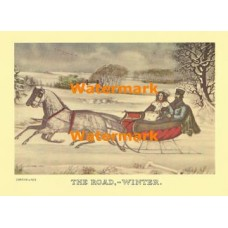 The Road, - Winter  - XBCI-14  -  PRINT
