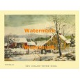 New England Winter Scene  - XBCI-15  -  PRINT