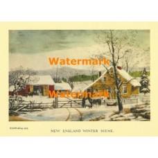 New England Winter Scene  - XBCI-15  -  PRINT