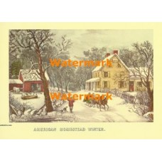 American Homestead Winter  - XBCI-4  -  PRINT