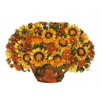 Sunflower Bouquet  - XBFL1035  -  PRINT