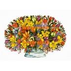 Daffodil & Tulip Bouquet  - XBFL1037  -  PRINT