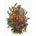 Tulip & Daffodil Bouquet  - XBFL898  -  PRINT