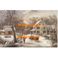 American Homestead Winter  - XKBF1089  -  PRINT