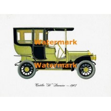 "Cadillac ""H"" Limousine 1907  - XKF61  -  PRINT"
