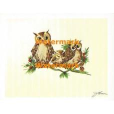 Owl Family  - XS289  -  PRINT